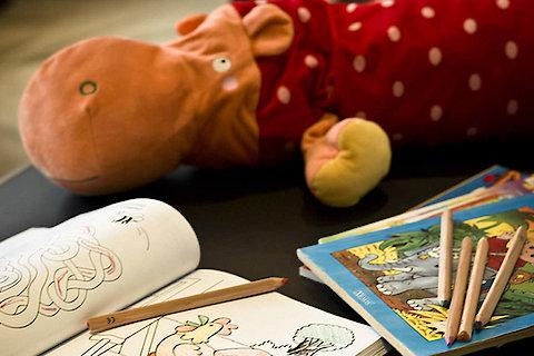 Hotel in Bayern - Kinderecke mit Malbücher