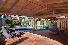 Impressionen der Gartenlandschaft im Hotel Bayerischer Wald